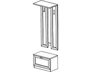 Купить вешалку ГРОС Алена ПМ 14  рамка (тумба с вешалкой)