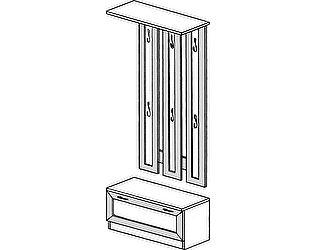 Купить вешалку ГРОС серии Алена ПМ 16 рамка (тумба с вешалкой)