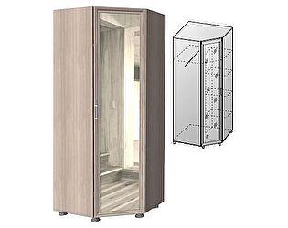 Купить шкаф ГРОС угловой с зеркалом Латте, Ла-7 (рамка МДФ)
