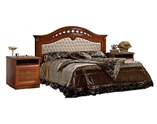 Купить кровать Ярцево Европа - 7 с кожаной вставкой