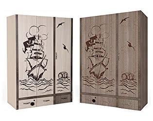 Купить шкаф ABC King Pirat Шкаф 3-х дверный