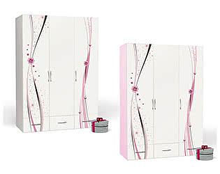 Купить шкаф ABC King Princess 3-х дверный 3 без зеркала