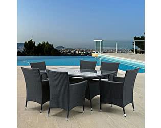Купить обеденную группу Афина-мебель AFM-170S/Y189D  Black 6Pcs