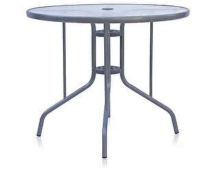 Купить стол Афина-мебель D90 Silver metallic