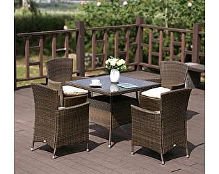 Купить обеденную группу Афина-мебель AFM-410SL90x90 4Pcs