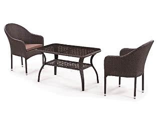 Купить обеденную группу Афина-мебель ST20B/S20B-1 Brown 2Pcs