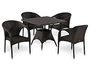 Купить обеденную группу Афина-мебель T190BD/Y290B-W52 Brown 4Pcs
