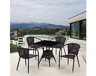 Купить обеденную группу Афина-мебель T197BNS-W53/Y137B-W51 Brown 4Pcs