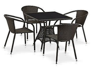 Купить обеденную группу Афина-мебель T197BNS-W53/Y137C-W53 Brown 4Pcs