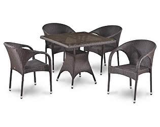 Купить обеденную группу Афина-мебель T220BBT/Y290B-W52 Brown 4Pcs