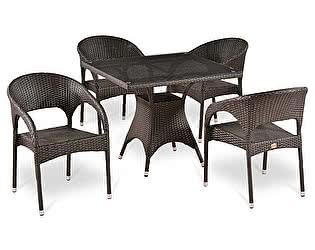 Купить обеденную группу Афина-мебель T220BT/Y90C-W51 Brown 4Pcs