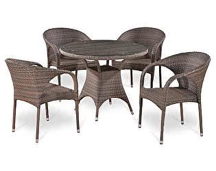 Купить обеденную группу Афина-мебель T220CG/Y290BG-W1289 Pale 4Pcs