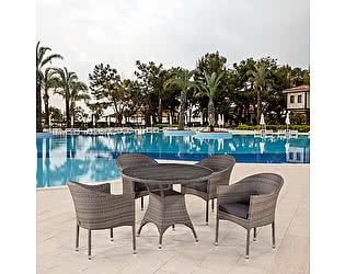 Купить обеденную группу Афина-мебель T220CG/Y350BG-W1289 Pale 4Pcs
