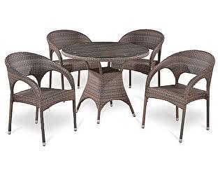 Купить обеденную группу Афина-мебель T220CG/Y90CG-W1289 Pale 4Pcs