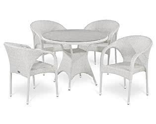Купить обеденную группу Афина-мебель T220CW/Y290W-W2 White 4Pcs