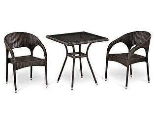 Купить обеденную группу Афина-мебель T282BNT-W53/Y90C-W51 Brown 2Pcs