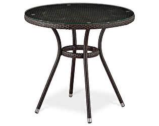 Купить стол Афина-мебель Плетеный T283ANT-W51-D80 Brown