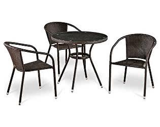 Купить обеденную группу Афина-мебель T283ANT/Y137C-W51 Brown 3Pcs