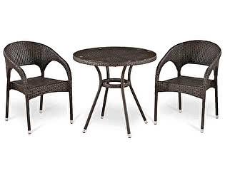 Купить обеденную группу Афина-мебель T283ANT/Y90C-W51 Brown 2Pcs