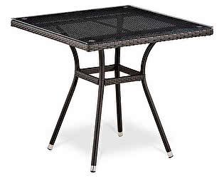 Купить стол Афина-мебель Плетеный T283BNT-W2390-80х80 Brown