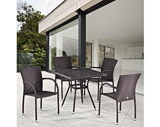 Купить обеденную группу Афина-мебель T283BNT-W2390/Y282A-W52 Brown 4Pcs