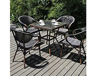 Купить обеденную группу Афина-мебель T130/D2003S 70x70 4Pcs