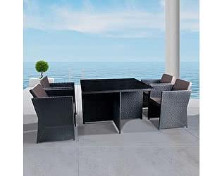 Купить обеденную группу Афина-мебель T300A/Y300A-W53 Brown 4Pcs