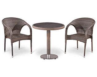 Купить обеденную группу Афина-мебель T501DG/Y290BG-W1289 Pale 2Pcs
