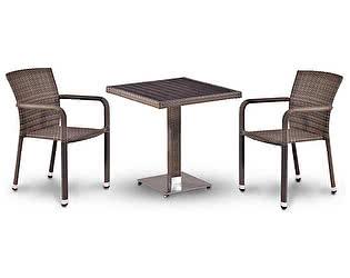 Купить обеденную группу Афина-мебель T502DG/A2001G-W1289 Pale 2Pcs