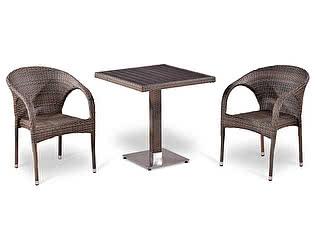 Купить обеденную группу Афина-мебель T502DG/Y290BG-W1289 Pale 2Pcs