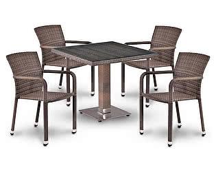 Купить обеденную группу Афина-мебель T503SG/A2001G-W1289 Pale 4Pcs
