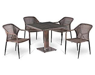 Купить обеденную группу Афина-мебель T503SG/Y35G-W1289 Pale 4Pcs