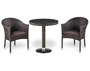 Купить обеденную группу Афина-мебель T504/Y350W-W2390 Brown 2Pcs