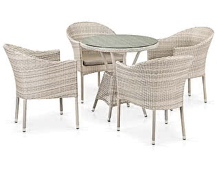 Купить обеденную группу Афина-мебель T705ANT/Y350-W85 4Pcs Latte