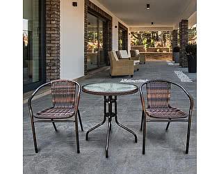 Купить обеденную группу Афина-мебель Асоль-1B TLH-037B/087B-D-60 Brown (2+1)
