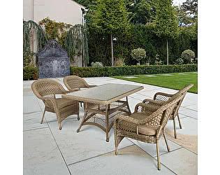 Купить обеденную группу Афина-мебель T130Bg/Y130Bg-150x90 Beige/Beige 4Pcs