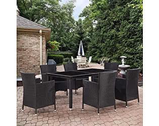 Купить обеденную группу Афина-мебель T246A/Y189D Black 6Pcs