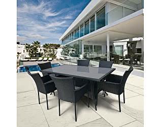Купить обеденную группу Афина-мебель AFM-170S  Black 6Pcs
