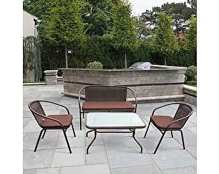 Купить комплект садовой мебели Афина-мебель TLH-037/037D/40S Brown
