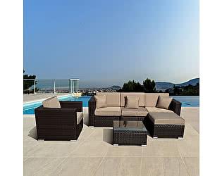 Купить комплект садовой мебели Афина-мебель YR821 Brown