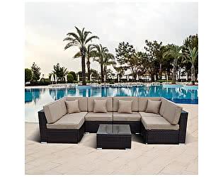 Купить комплект садовой мебели Афина-мебель Плетеный модульный YR822 Brown