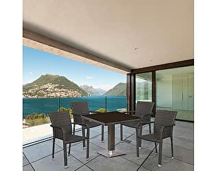 Купить обеденную группу Афина-мебель T605SWT/A2001B-W53 Brown 4Pcs