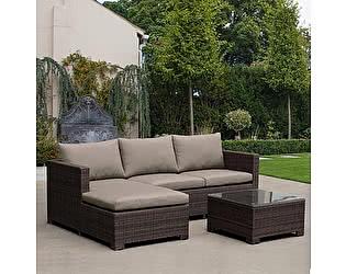 Купить комплект садовой мебели Афина-мебель угловой плетеный AFM-4025B Brown