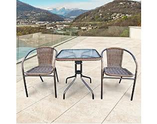Купить обеденную группу Афина-мебель Асоль-2A TLH-037AR2/060SR-60х60 Cappuccino (2+1)