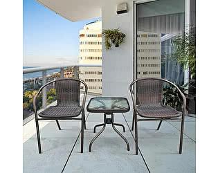 Купить обеденную группу Афина-мебель Асоль-3B TLH-037B/055S-45х45 Brown (2+1)