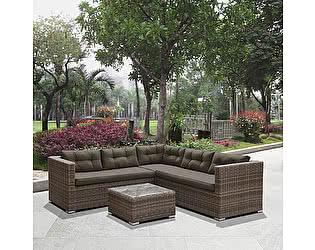 Купить комплект садовой мебели Афина-мебель угловой плетеный AFM-303A Brown/Olive