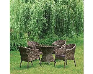 Купить обеденную группу Афина-мебель RT-A52 Brown  4Pcs