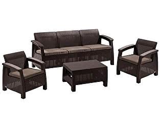 Купить комплект садовой мебели Афина-мебель Yalta 3set AFM-1030A Brown/Cappuccino