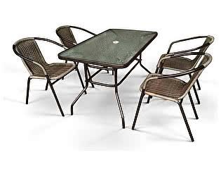 Купить обеденную группу Афина-мебель Николь-3B CDC01/CDT016-120х70 Brown (4+1)