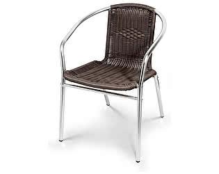 Купить кресло Афина-мебель Стул алюминевый LFT-3099B Brown